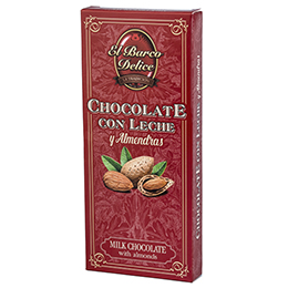CHOCOLATE CON LECHE, ALMENDRAS MARCONAS ENTERAS 200G. Chocolates